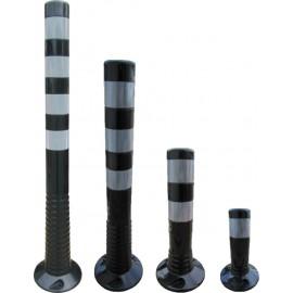 Flexipfosten schwarz-silber