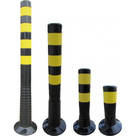 Flexipfosten schwarz-gelb
