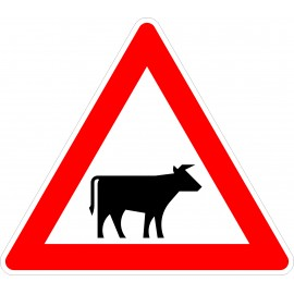 Verkehrszeichen-Nr.:101-22 Viehtrieb-links