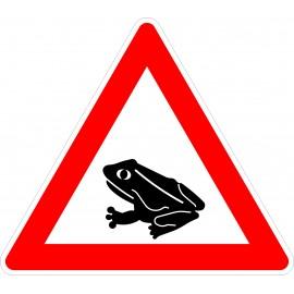 Verkehrszeichen-Nr.:101-14 Amphibienwanderung-rechts