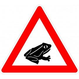 Verkehrszeichen-Nr.:101-24 Amphibienwanderung-links