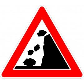 Verkehrszeichen-Nr.:101-15 Steinschlag-rechts