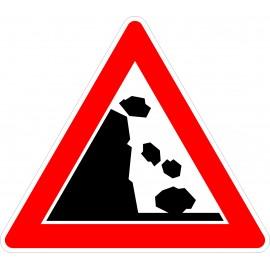 Verkehrszeichen-Nr.:101-25 Steinschlag-links