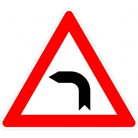 Verkehrszeichen-Nr.: 103-10 Kurve links