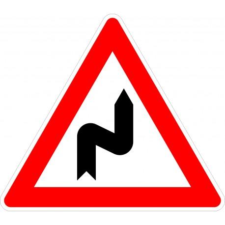 Verkehrszeichen-Nr.: 105-20 Doppelkurve zunächst rechts