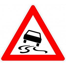 Verkehrszeichen-Nr.: 114 Schleuder-oder Rutschgefahr