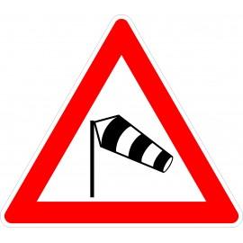 Verkehrszeichen-Nr.: 117-20 Seitenwind von links