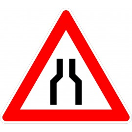 Verkehrszeichen-Nr.: 120 Verengte Fahrbahn