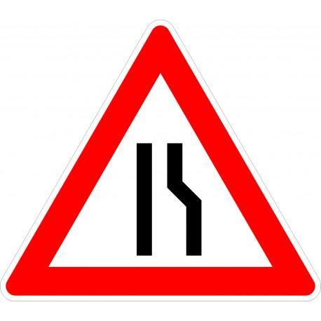 Verkehrszeichen-Nr.: 121-10 Einsetig verengte Fahrbahn