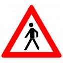 Verkehrszeichen-Nr.: 133-10 Fußgänger Aufstellung rechts