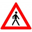 Verkehrszeichen-Nr.: 133-20 Fußgänger Aufstellung links