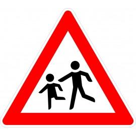 Verkehrszeichen-Nr.: 136-10 Kinder Aufstellung rechts