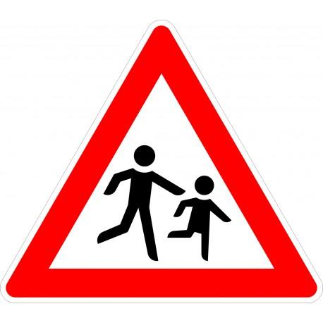 Verkehrszeichen-Nr.: 136-20 Kinder Aufstellung links
