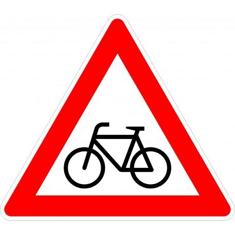 Verkehrszeichen-Nr.: 138-10 Radverkehr Aufstellung rechts