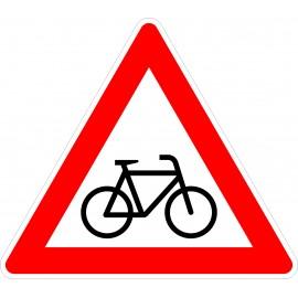 Verkehrszeichen-Nr.: 138-20 Radverkehr Aufstellung links