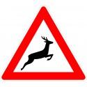 Verkehrszeichen-Nr.: 142-20 Wildwechsel Aufstellung links