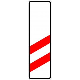 Verkehrszeichen-Nr.: 159-10 zweistreifige Bake, Aufstellung rechts