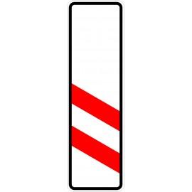 Verkehrszeichen-Nr.: 159-20 zweistreifige Bake, Aufstellung links