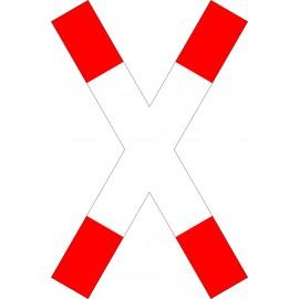 Verkehrszeichen-Nr.: 201-50 Andreaskreuz