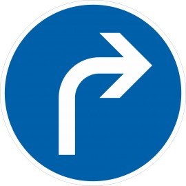 Verkehrszeichen-Nr.: 209 Vorgeschriebene Fahrtrichtung rechts