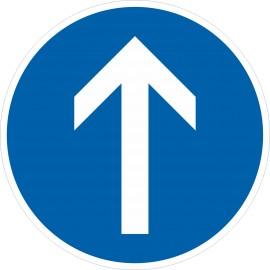 Verkehrszeichen-Nr.: 209-30 Vorgeschriebene Fahrtrichtung greadeaus