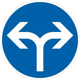 Verkehrszeichen-Nr.: 214-30 Vorgeschriebene Fahrtrichtung rechts oder links