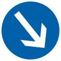 Verkehrszeichen-Nr.: 222 Vorgeschriebene Fahrtrichtung rechts vorbei