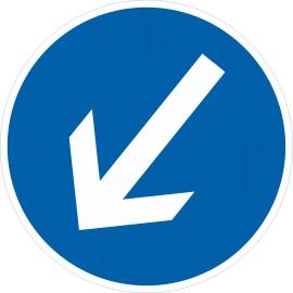 Verkehrszeichen-Nr.: 222-10 Vorgeschriebene Fahrtrichtung links vorbei