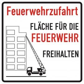 Schild für Feuerwehr mit Wunschtext