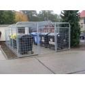 Einhausung für Müllplatz